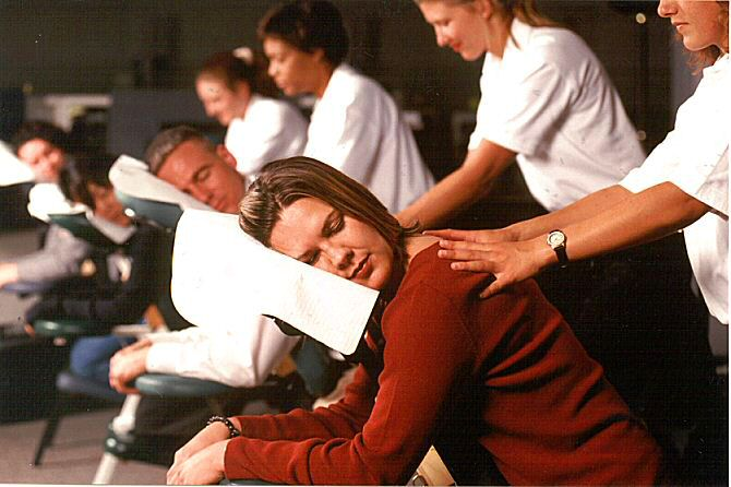 Corporate Chair Massage Event