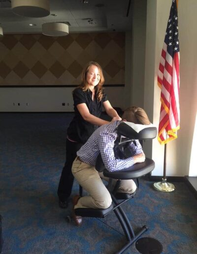 Seated massage in San Antonio